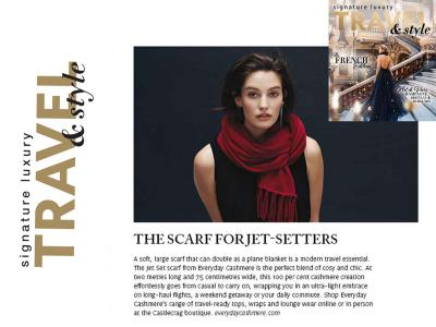 """""""The Scarf for Jet Setters"""" - says Signature Luxury Travel & Style"""