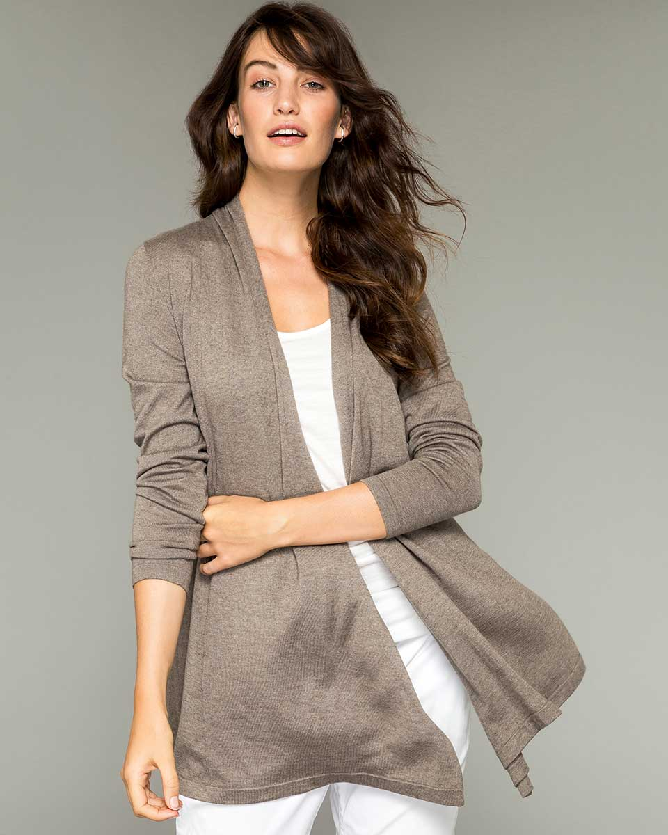 Silk and Cashmere Pilar Wrap Cardigan