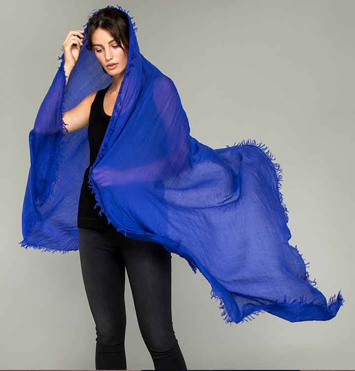 Cobalt Blue Supersoft Scarf